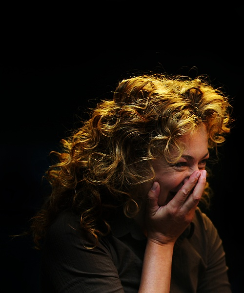 My other straight crush: Alex Kingston. That hair!