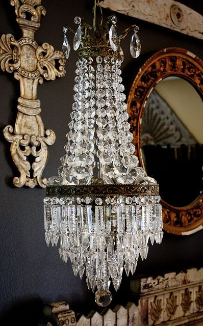 Crystal French Empire Chandelier, via Flickr.