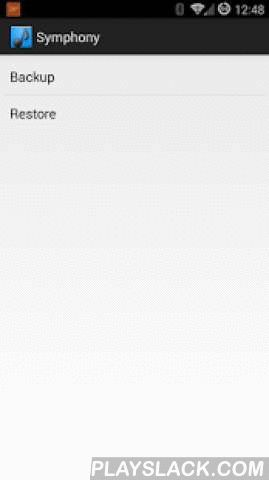 Symphony Ringtone Backup  Android App - playslack.com , Do you hate having to configure custom ringtones when upgrading or getting a new phone or tablet?This Application will back up your contacts custom ringtones and restore them on your newly flashed device.If you are clean flashing a ROM like CyanogenMod or the like, Give this app a try. It will save you the time of having to save all of your custom ring tones and then reconfigure them after you have flashed the ROM.If you have any…