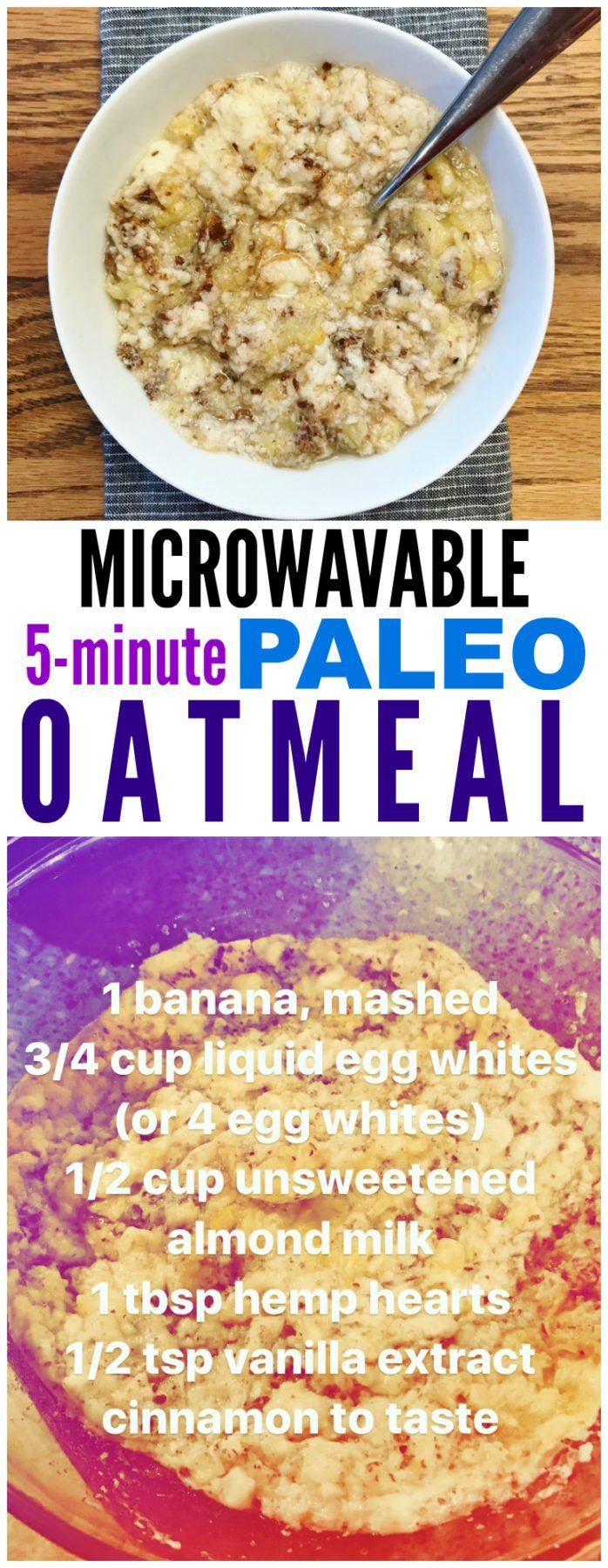 Monday In Meals + Microwavable Paleo Oatmeal http://carrotsncake.com/2017/03/monday-meals-microwavable-paleo-oatmeal.html