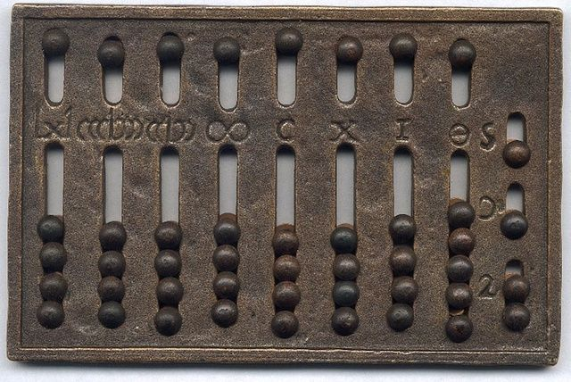 The Roman Abacus. We are more familiar about the Chinese abacus. Here's a history of early computingmMachines, from Ancient Times to 1981. And much has happened to improbe informationa and technology since that time.