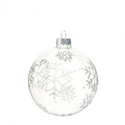 boule de no l flocon chez maisons du monde noel pinterest glass christmas ornaments. Black Bedroom Furniture Sets. Home Design Ideas