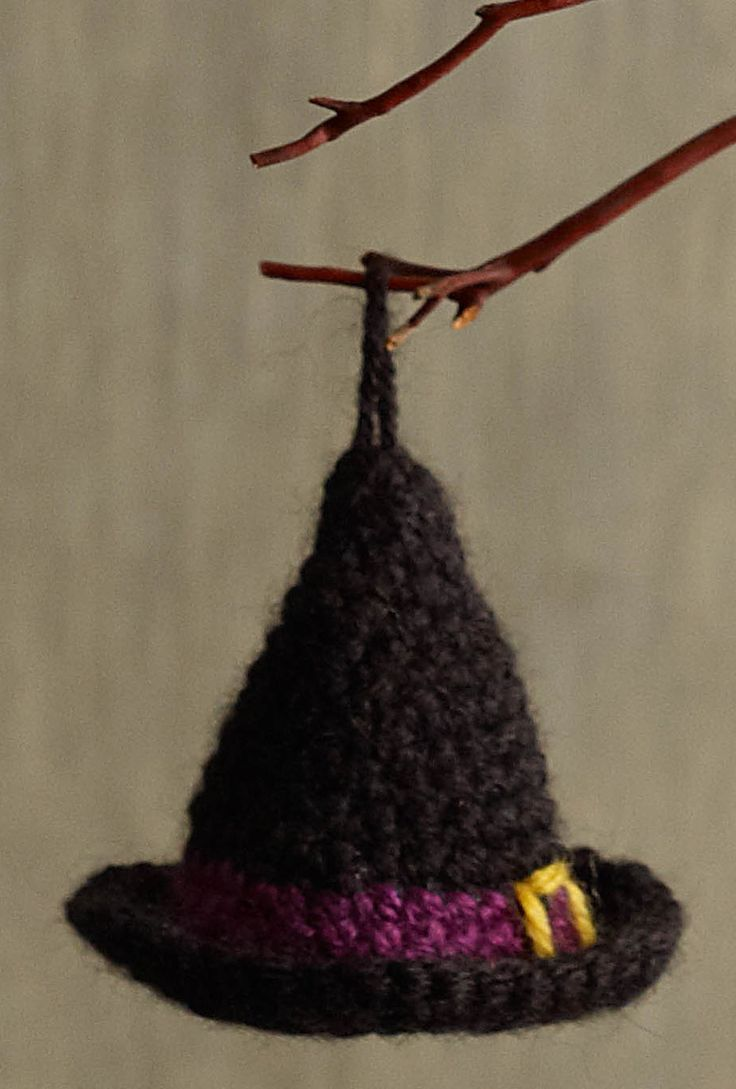 51 best halloween crochet patterns images on pinterest free ravelry halloween witch hat ornament pattern by lion brand yarn bankloansurffo Image collections