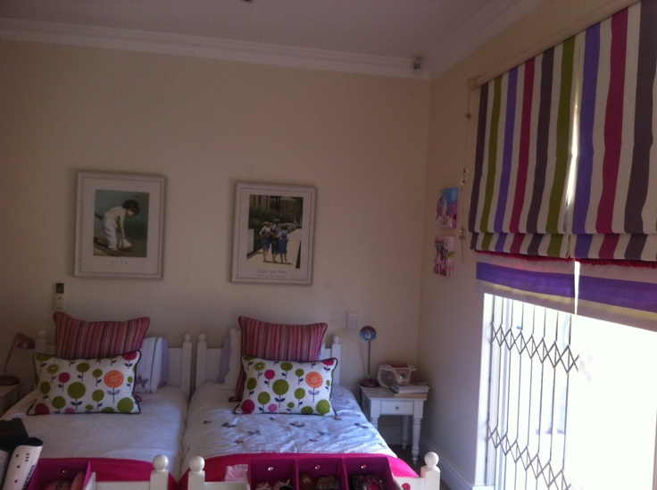 Green, Pink, Purple & Orange Girls bedroom