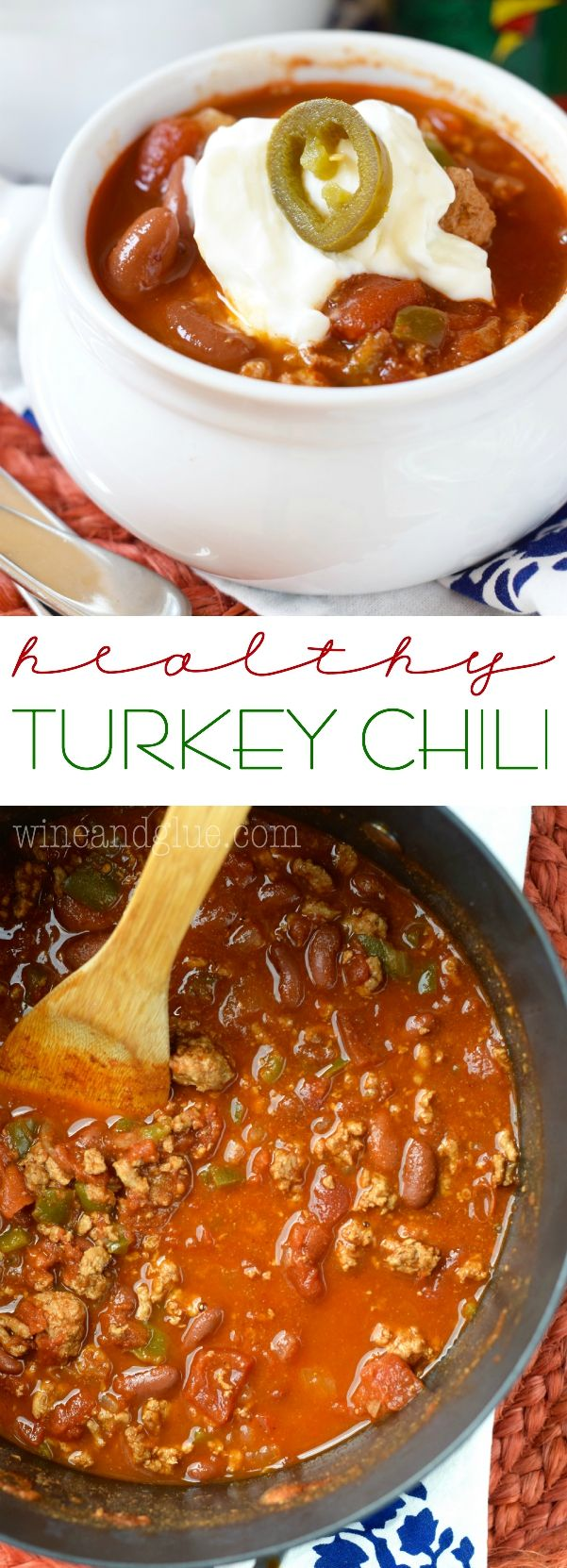 Healthy Turkey Chili that is hearty, warming, and super delicious! Nx