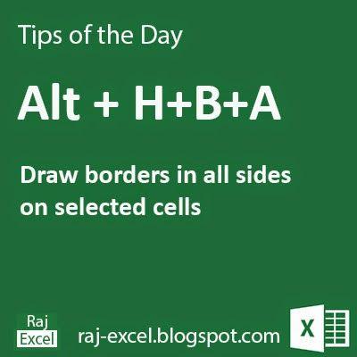 Raj Excel: Tips of the Day: Microsoft Excel Short Cut Keys: A...