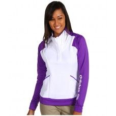 Oferte haine originale: Bluza dama alb mov Adidas Golf