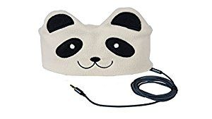 Amazon.com: CozyPhones Kids Headphones Volume Limited with Ultra-Thin Speakers & Super Comfortable Soft Fleece Headband - Perfect Children's Earphones for Home and Travel - PANDA: Cell Phones & Accessories