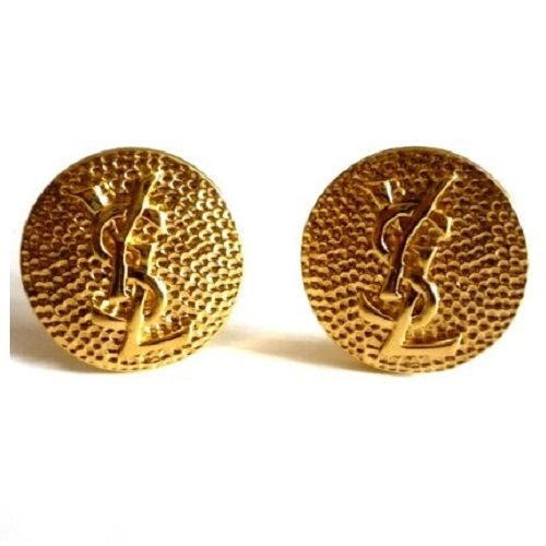 """Beautiful authentic YSL gold tone clip earringsStunning YSL Round Logo EarringsVintage 1980'ssize 1 1/8"""" in diameterFANTASTIC CONDITION - VINTAGE 1980'SDesigner signed on back of each earring.Rare and beautiful earrings* All prices in US Dollars* Shipping Approximately 7-14 days WORLDWIDE -$20 USD* Payment is by PAYPAL or credit card option*All DESIGNER items for sale are 100% Original and AuthenticPlease note: As with all vintage or new item..."""