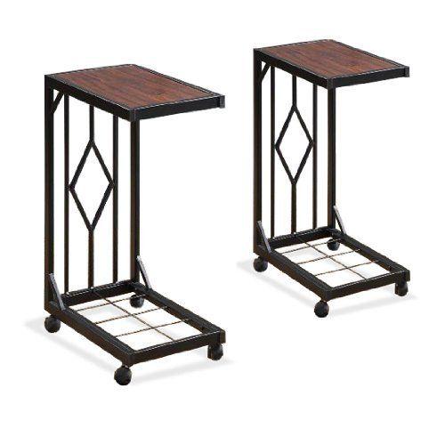 two wood veneer tv dinner snack tea tray tables end side sofa black storage caddy set by the. Black Bedroom Furniture Sets. Home Design Ideas