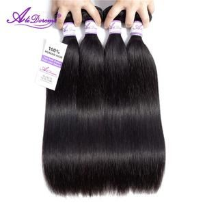Brazilian Straight Hair Bundles 8-28 inch 100% Alidoremi Human Hair Weave Non Remy Hair Extension Natural Color Can Buy1/3/4pcs