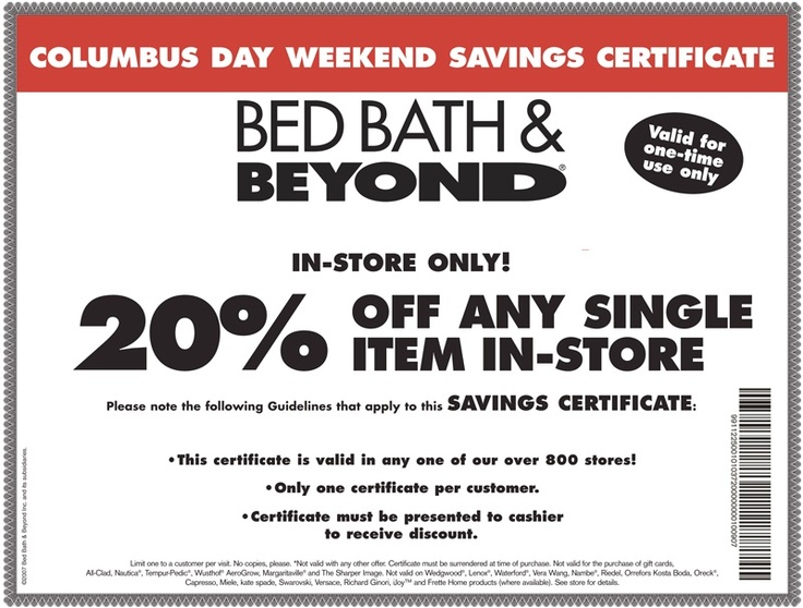 Coupon bed bath and beyond in store