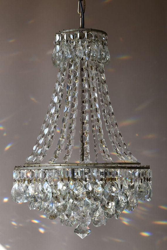 FREE DELIVERY Luxury Silver lamp Chandelier Waterfall Antique