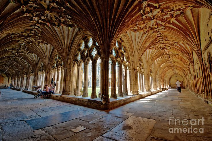 The Cloisters Canterbury Cathedral fineartamerica.com