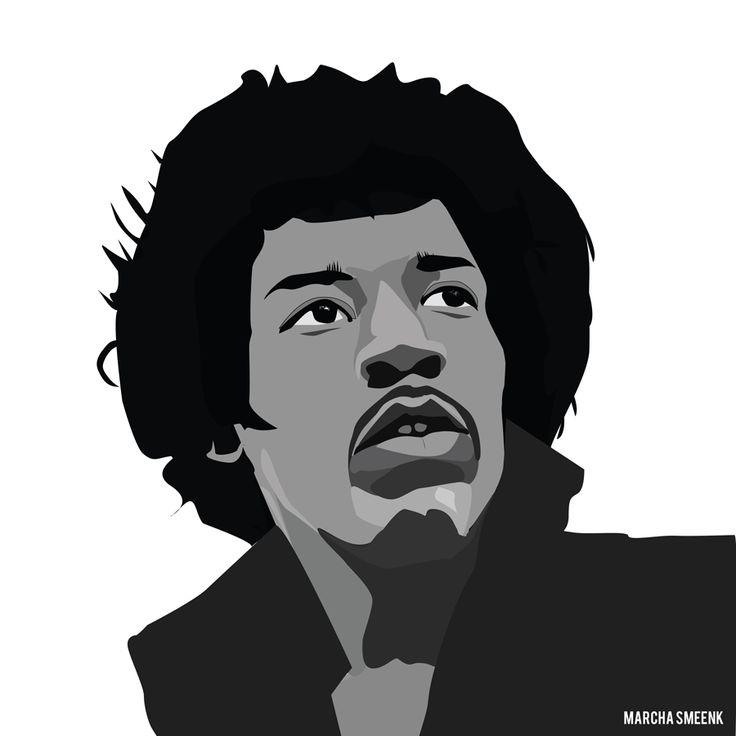 My illustration of Jimi Hendrix