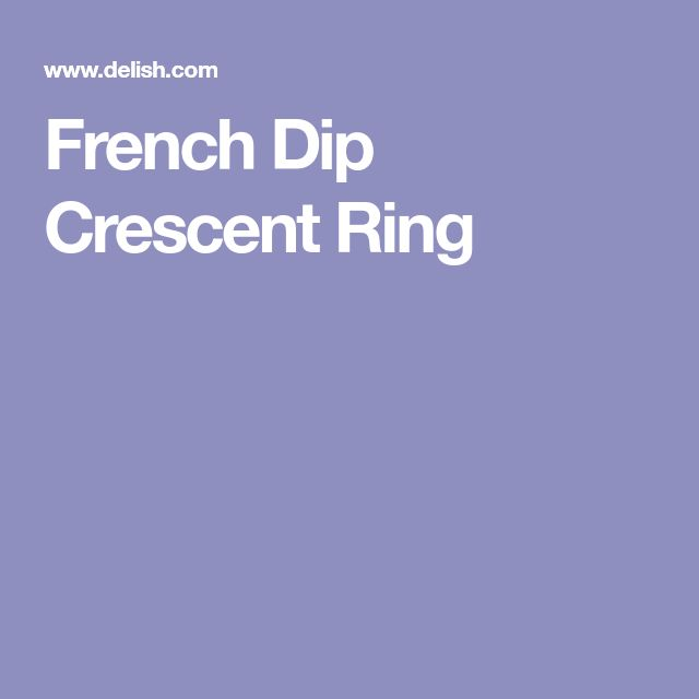 French Dip Crescent Ring