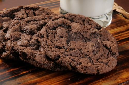 Choc biscuits with soft chocolate centres