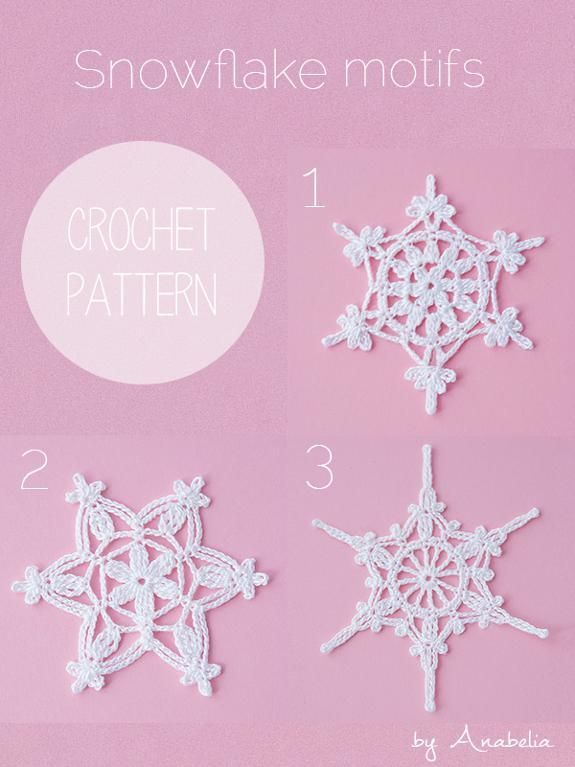 Crochet snowflakes ... by Anabelia Craft Design | Crocheting Pattern - Looking for your next project? You're going to love Crochet snowflakes motifs by designer Anabelia Craft Design. - via @Craftsy