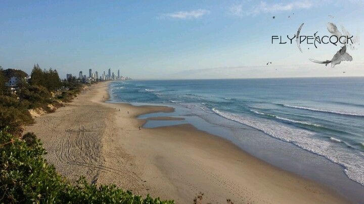 North Burleigh looking north to Surfers Paradise