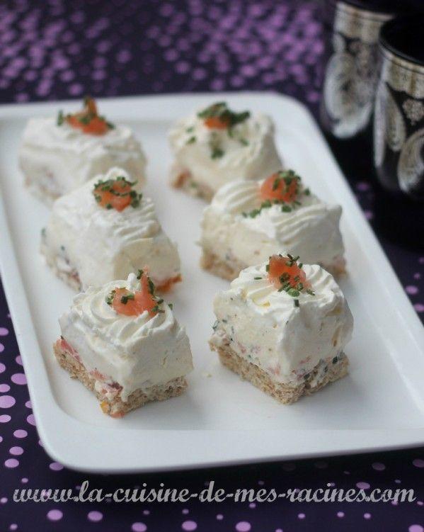 Tiramisu salé au saumon et tomates