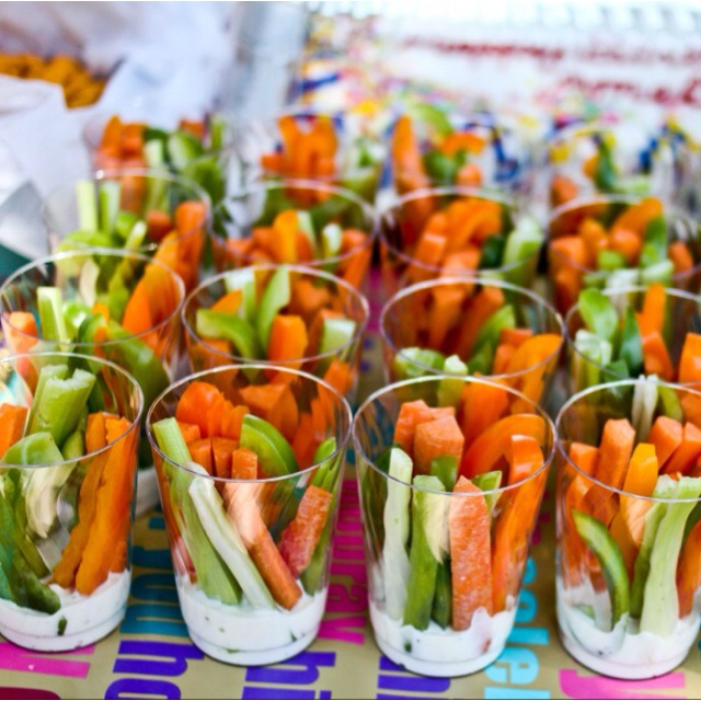 Mini veggie dip cups! No more double dippers!
