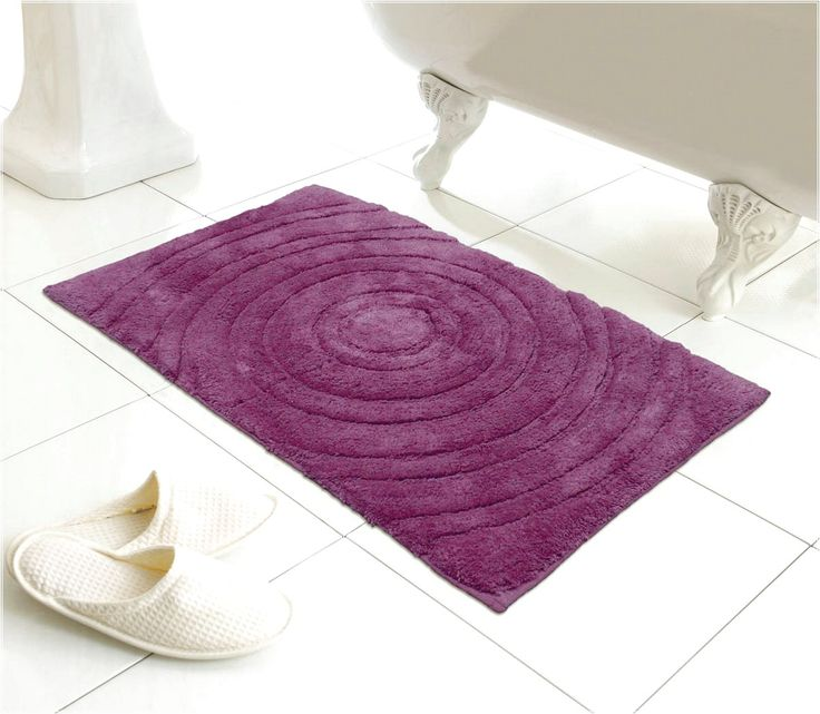 ECHO BATHMAT PURPLE PURPLE BATH RUGS OPTIONS