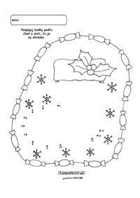 Vianoce - spájame bodky podľa čísel - čižma