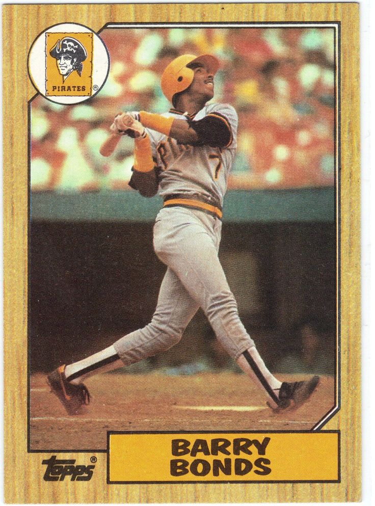 1987 Topps 320 Barry Bonds Rookie Raw Nm Old Baseball Cards Baseball Cards Baseball Trading Cards