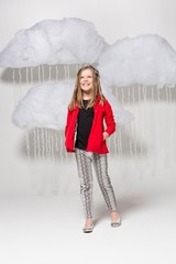Hvaoc Denim Trench Coat and Reptile Jeans Tween Fashion