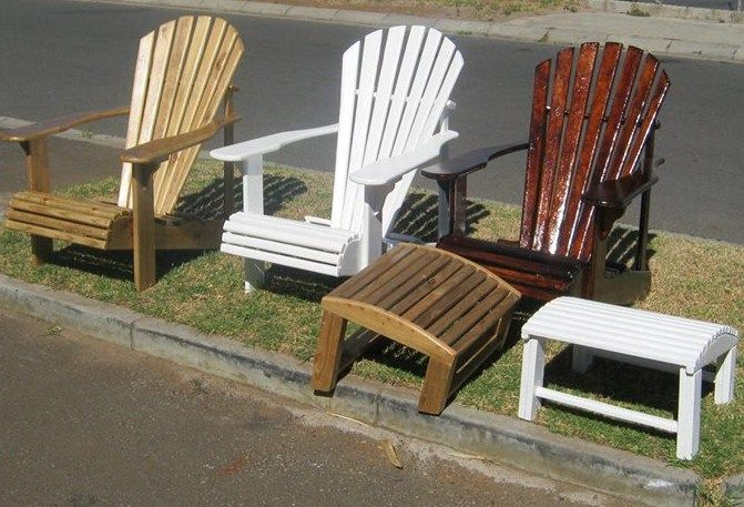 Great for relaxing on the deck, porch or patio. We make in treated pine and also in Zim Teak. We make foot stools that go with and deck chair/lounger.