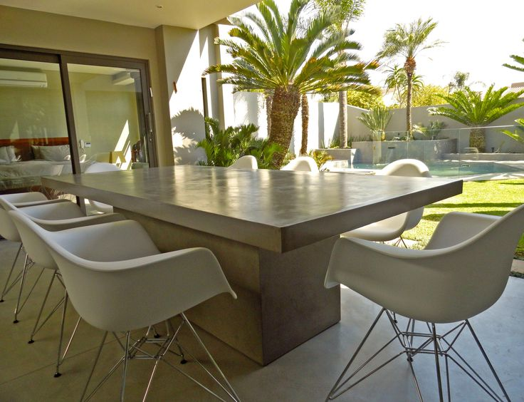 Standard grey polished concrete table high gloss for Table induction 71 x 52