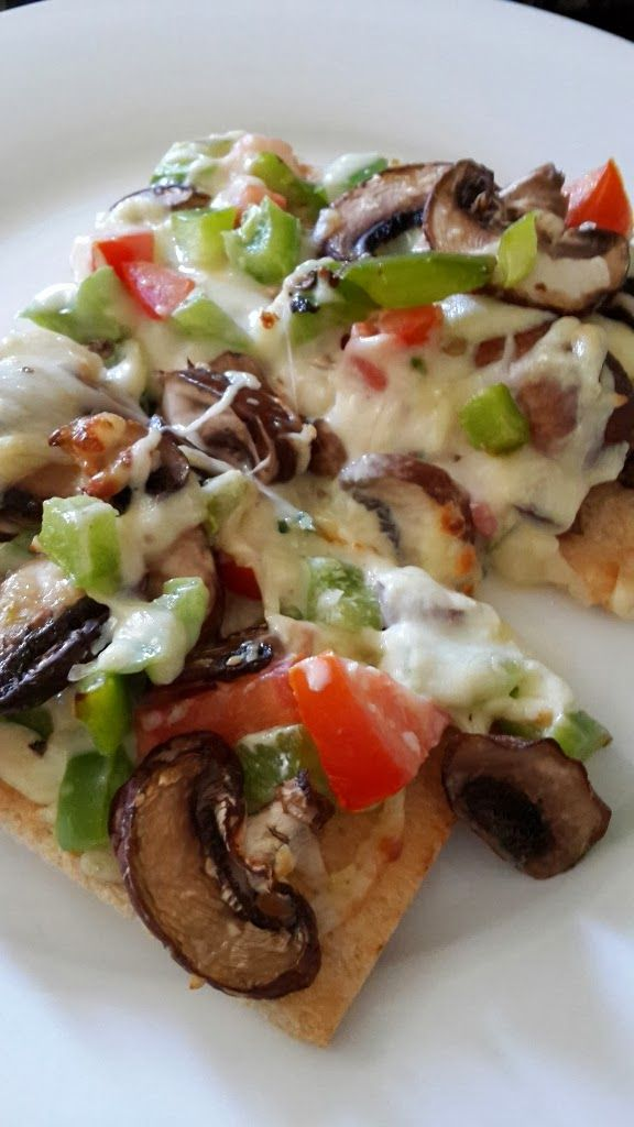 Hungry Hubby And Family: COHEN DIET: Tomato, Green Pepper and Mushroom Pizza