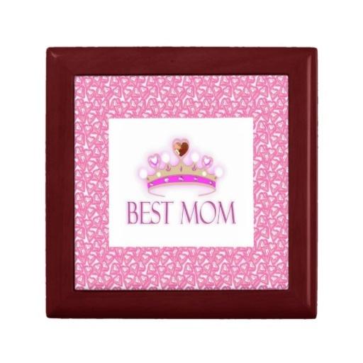 Best Mom Crown Keepsake Boxes by elenaind