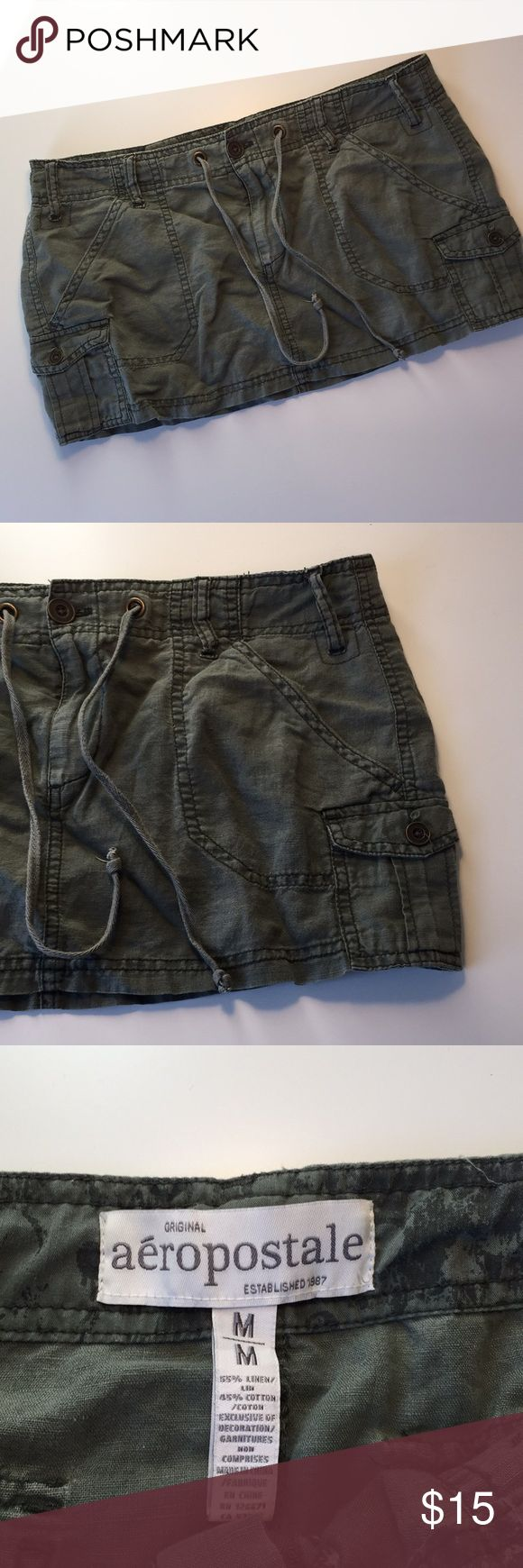 Aeropostale army green mini skirt Cute army green Aeropostale mini skirt. Never been worn and in excellent condition. See pictures for measurements. Aeropostale Skirts Mini