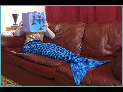 How to Crochet Video Tutorial: Mermaid Tail Afghan Pattern—3 Sizes (Small: Child, Medium: Teen, Large: Adult) | YARNutopia by Nadia Fuad