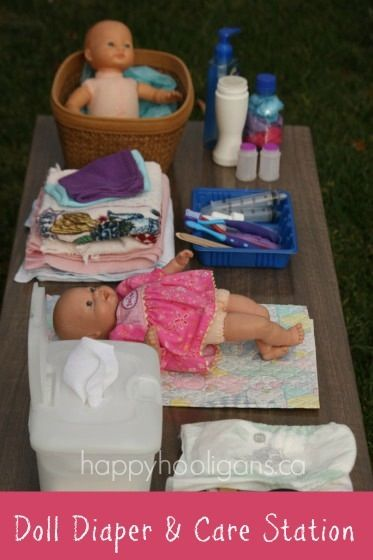 Doll Diaper and Care Station pretend play set-up