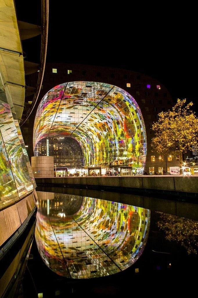 Market Hall, Rotterdam, Netherlands, Foto: Tom Schoumakers #architektur #architecture