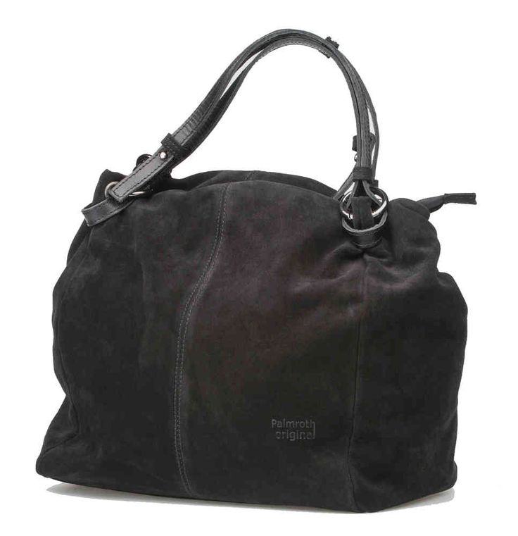 Palmroth bag soft black suede