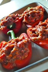 Meatloaf Stuffed Peppers  (modified to work with all phases of the Ideal Protein Protocol!)