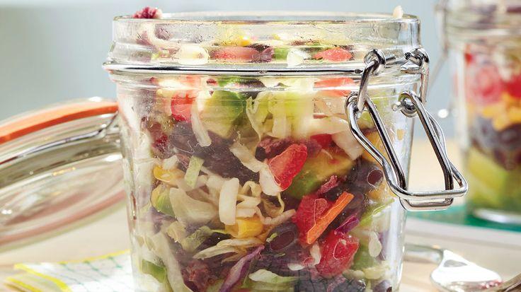 Mason Jar Nacho Salad