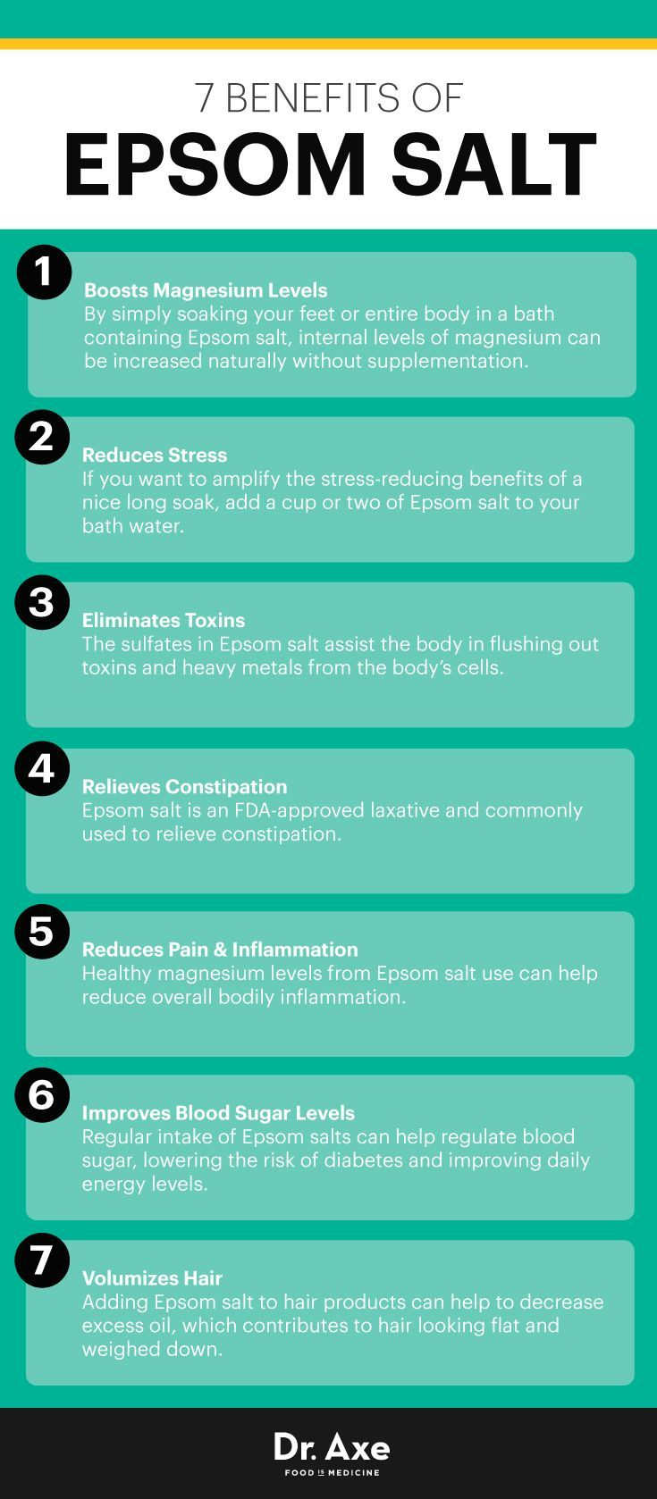 Epsom salt benefits - Dr. Axe http://www.draxe.com #health #holistic #natural…