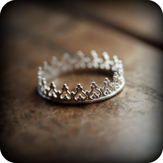 """HIRAM'S LOVE: I was his """"Princess"""" always, but now, his """"Lonesome Queen"""". My gift to myself this Christmas. I love it so much. Crown ring 01  sterling silver ring As seen on by junedesigns, $24.00"""