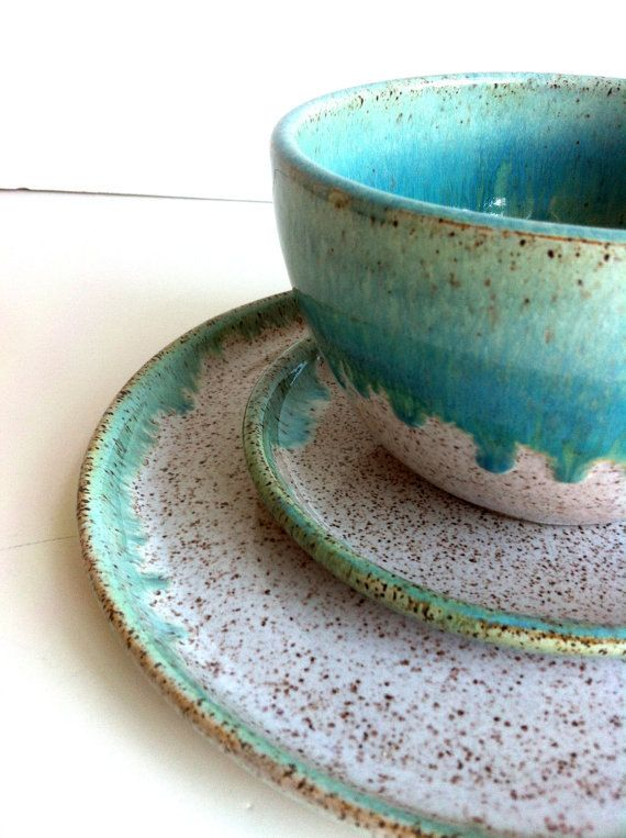 Kim Schaffert and Travis Floan Registry Rustic Ocean Stoneware Dinnerware - 1 dinner plate  sc 1 st  Pinterest & 22 best Tableware images on Pinterest | Dinnerware Stoneware and ...