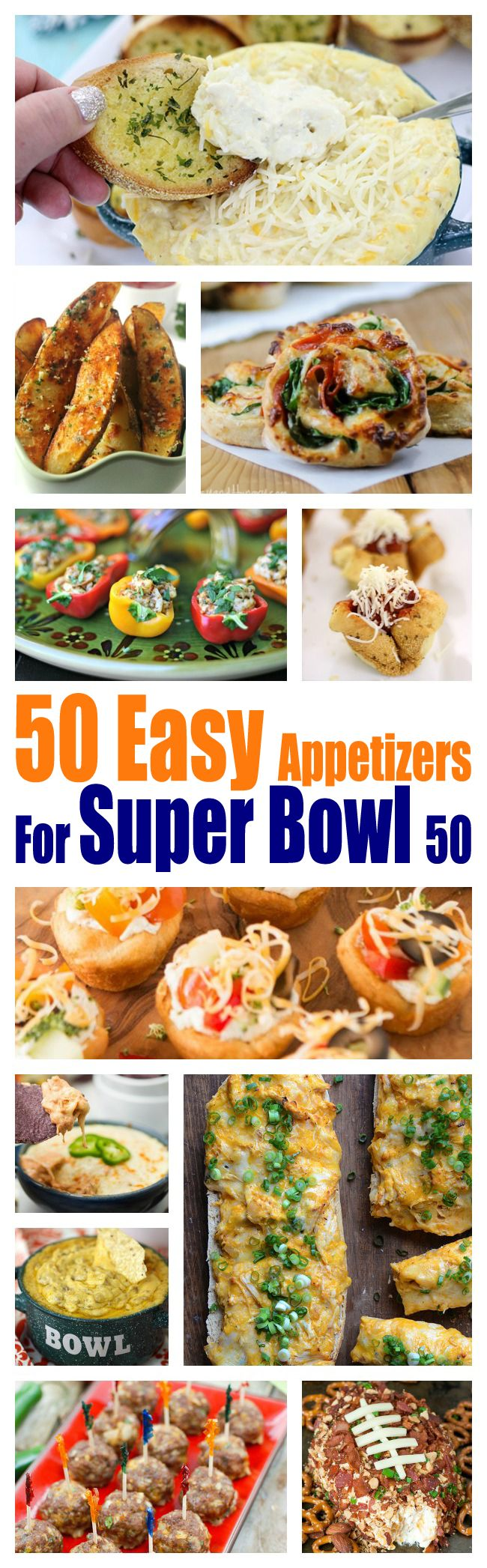 Win at Super Bowl Party Planning with these crazy easy appetizers. Yay for Football!