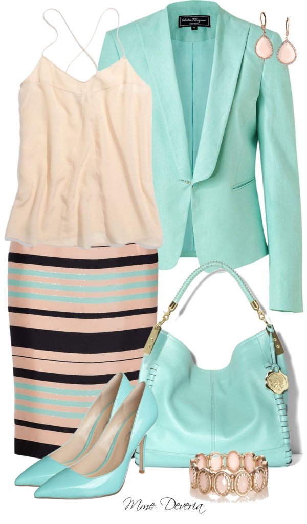 """""""Bold stripes"""" by madamedeveria ❤ liked on Polyvore"""