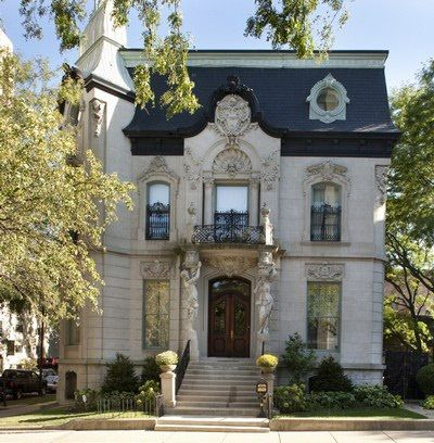 The Frances J. Dewes mansion, a Gothic-revival masterpiece in the Lincoln Park area of Chicago, has been listed for sale at $9.9 million. The historic home, designed by architects Adolph Cudell and Arthur Hercz and completed in 1896, was built for Francis Dewes, a Prussian immigrant who made his fortune as a brewer. A six-year effort by the Botti Studio restored the original stained-glass windows, painted panels and ceilings, and tiled-mosaic floors to their original splendor.