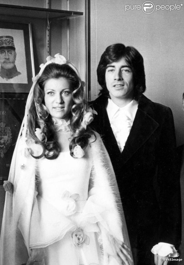 Le mariage de Sheila et Ringo à Paris, le 13 février 1973. le rêve de petites filles!on était conditionné aux princes charmants