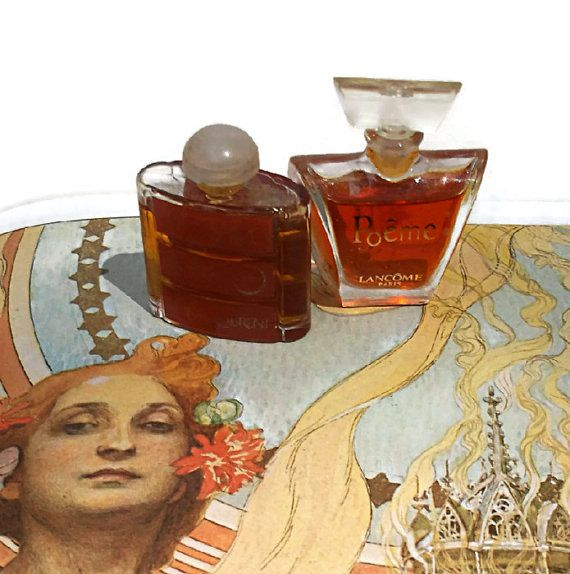 Yves Saint Laurent Opium Lancome Poeme Perfume by CrowsCottage