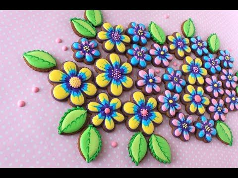 Video Release: How to Make Simple Marbled Cookie Flowers and Leaves | By Julia M Usher | Recipes for a Sweet Life