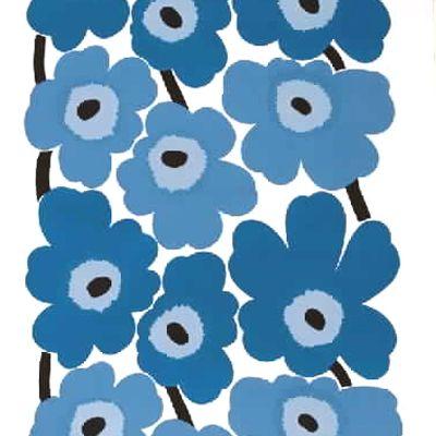 Marimekko Unikko Blue Fabric